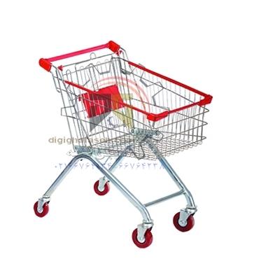 چرخ خرید فروشگاهی 80 لیتری فلزی