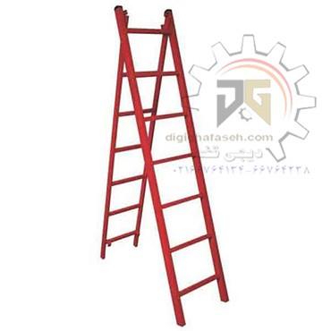 نردبان 5 متری دو تیکه پله مربع پرشین