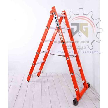 نردبان 4 متری دو تیکه پله مربع پرشین