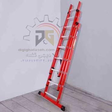 نردبان 9 متری 3 تیکه پله مربع پرشین