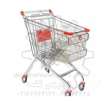 چرخ خرید فروشگاهی 120 لیتری فلزی