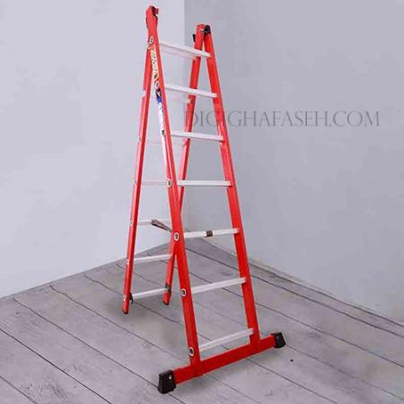 نردبان 6 متری دو تیکه پله مربع پرشین