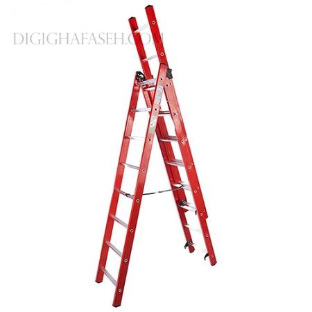 نردبان 6 متری 3 تیکه پله مربع پرشین